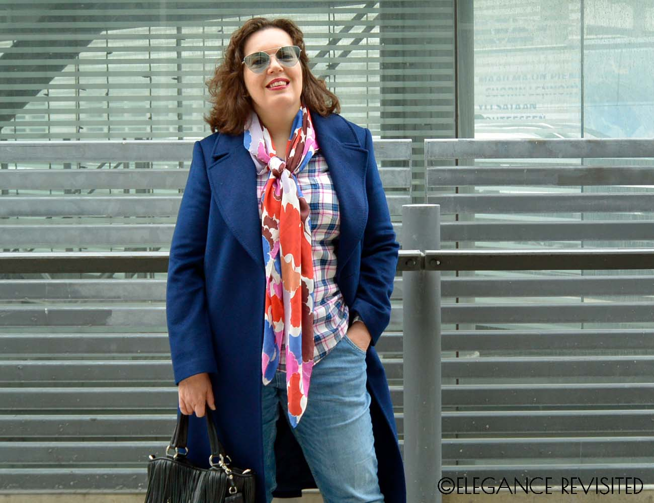 mixing florals and plaid