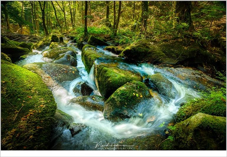Een deel van de watervallen in de Vallei der Druïden