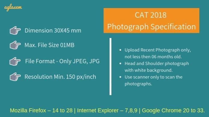 CAT 2018 Photo Requirements