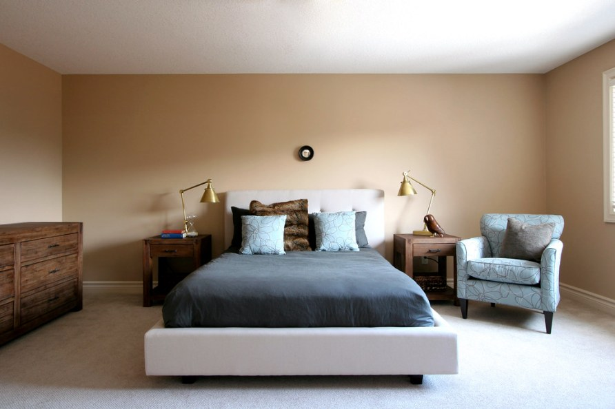 completed bedroom design for young couple   The 10 cent ...