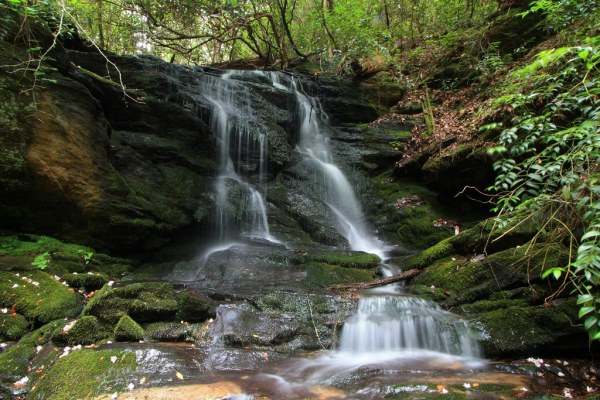 camp branch falls, chattooga national wild and scenic rive ...