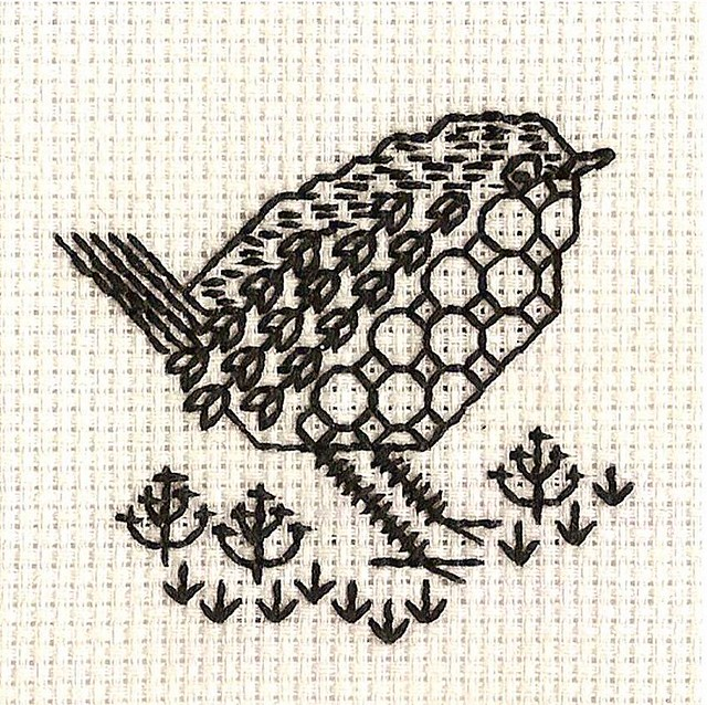 Blackwork Robin For Christmas Card Connie Flickr