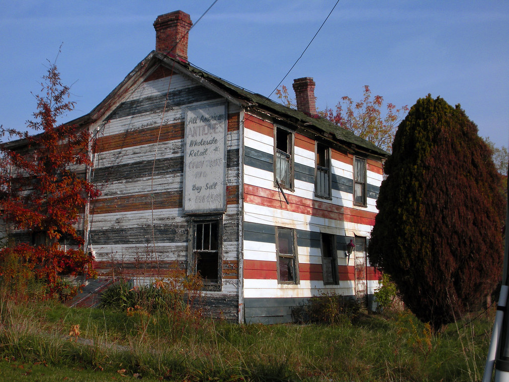 Flag House Butler Pa This Run Down Old House Was An