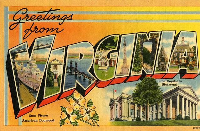 vintage postcard - Virginia Greetings | Jassy-50 | Flickr
