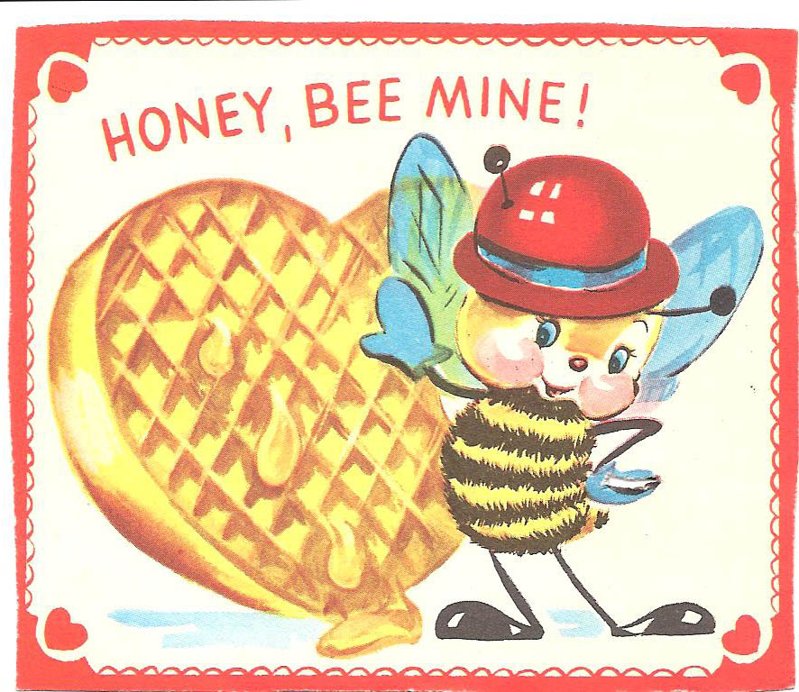 'Honey, Bee Mine!' valentine - date unknown