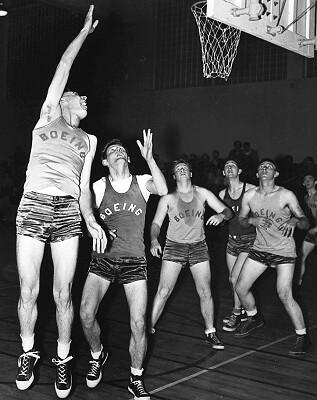 Boeing Basketball Players Circa 1955 Item 31309 Ben