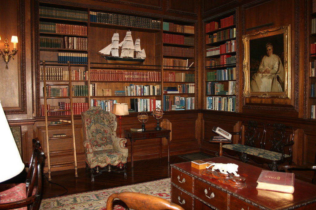 Filoli Mansion Library I Can See Myself Spending Idle
