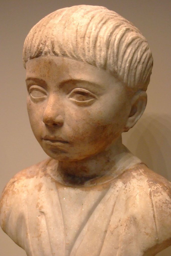 Bust Of A Slave Boy With Trajanic Haircut Named Martial Ro