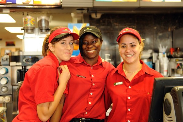 McDonald's Staff | We couldn't rest the bright red shirts ...