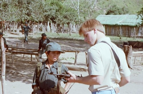 Michael Johns With Nicaraguan Contras Nicaragua Honduras