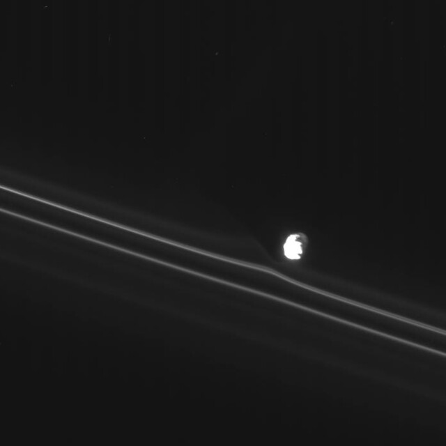 A Shepherd's Tale | Cassini captured one of Saturn's tiny ...