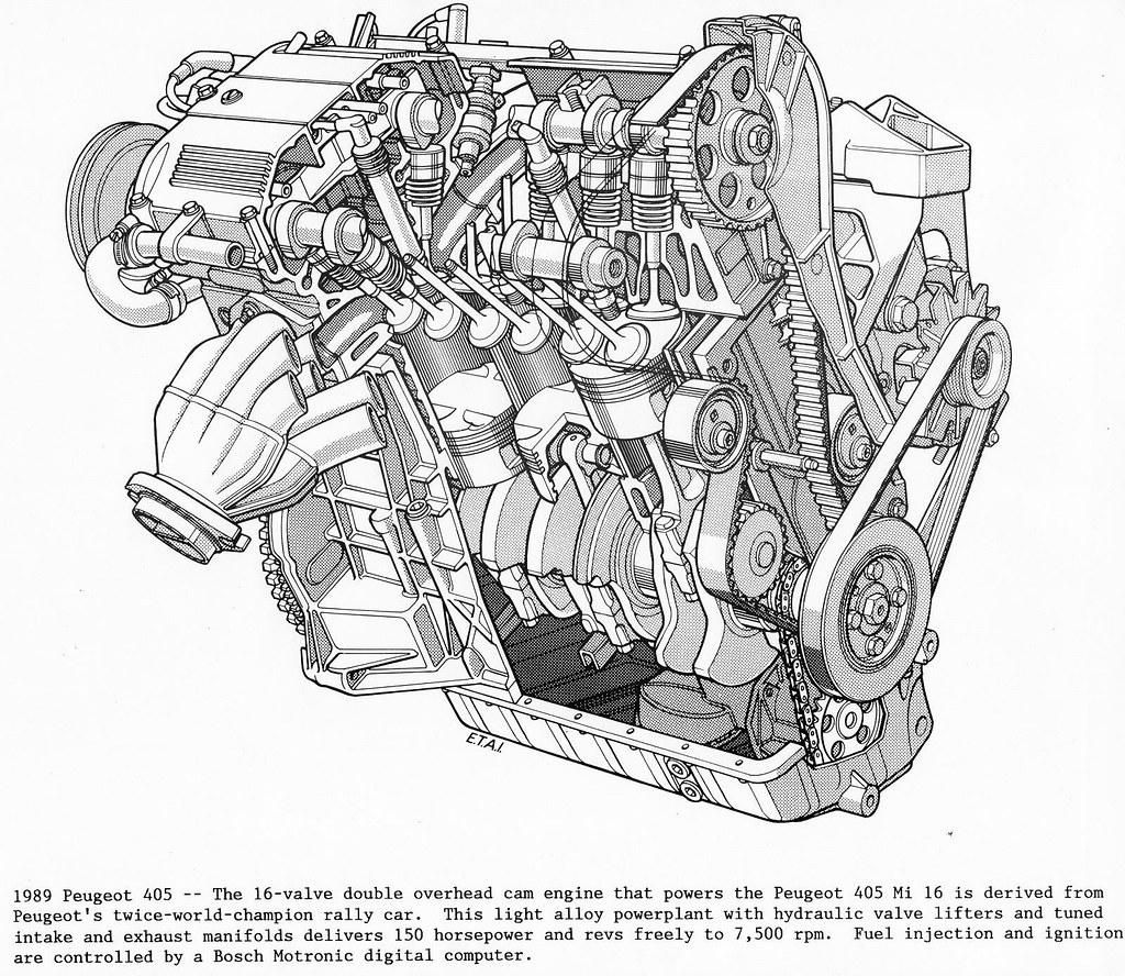 Peugeot 405 Mi16 Engine