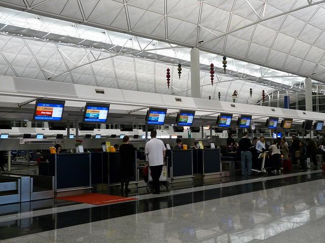 Hong Kong International Airport Lufthansa Check In Counter