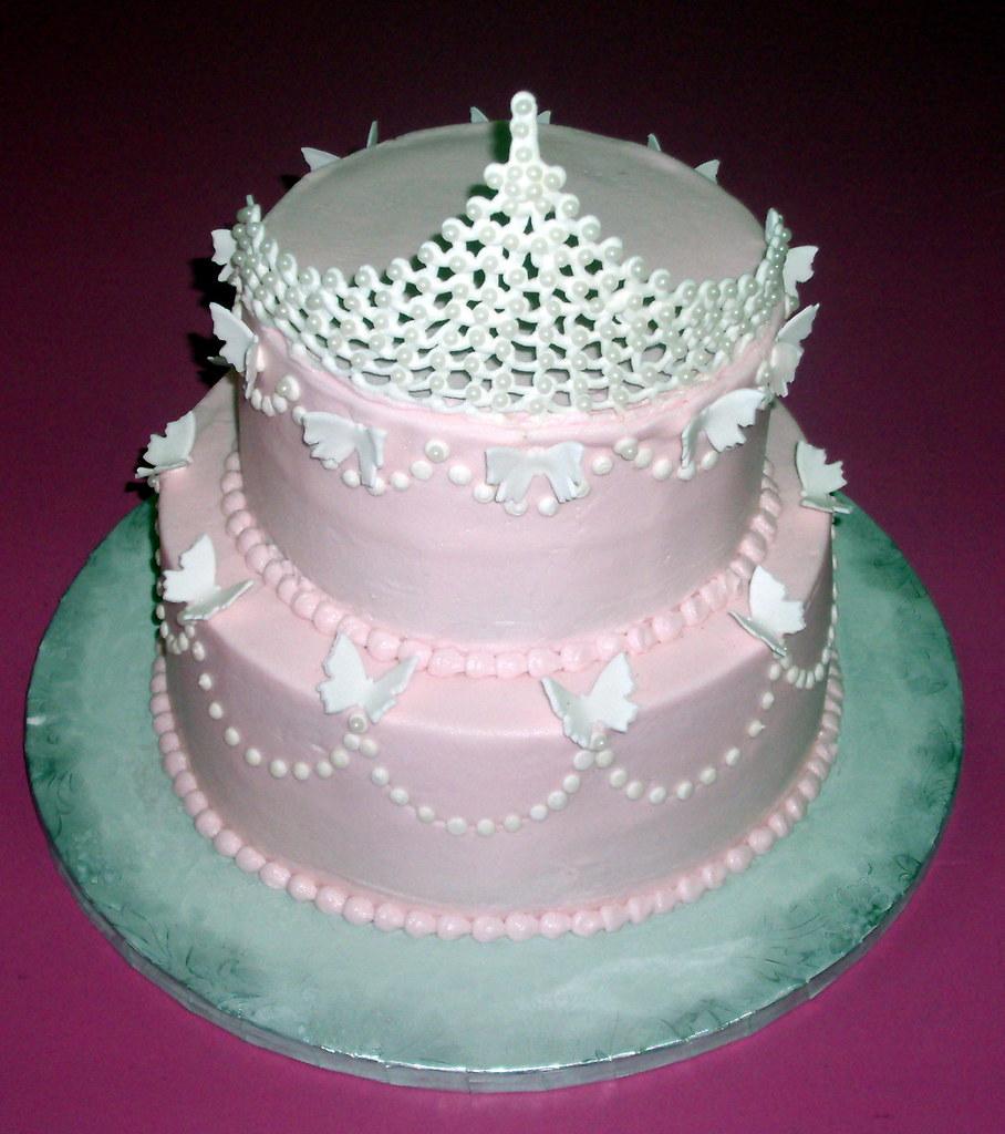 Princess Pearl Tiara Birthday Cake 100 Edible Tiara