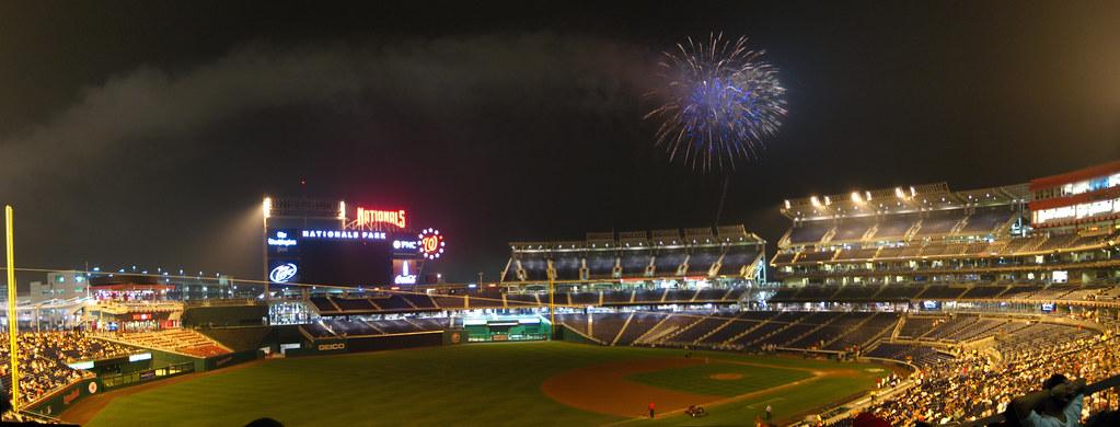 Friday Night Fireworks At Nationals Park Many Friday