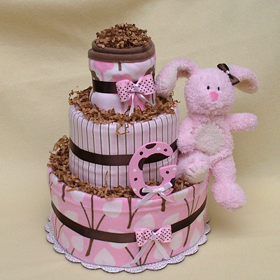 CHOCOLATE BUNNY DIAPER CAKE Side View See More Original