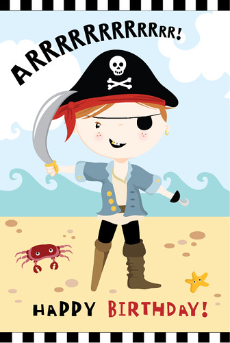 Personalised Pirate Card Available To Buy At Www