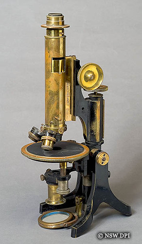 19th Century Petrological Microscope Brass Petrological