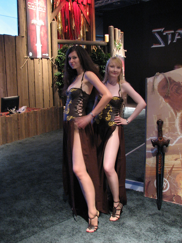 Age Of Conan Babes On Games Convention 2008 Sergey Galyonkin Flickr