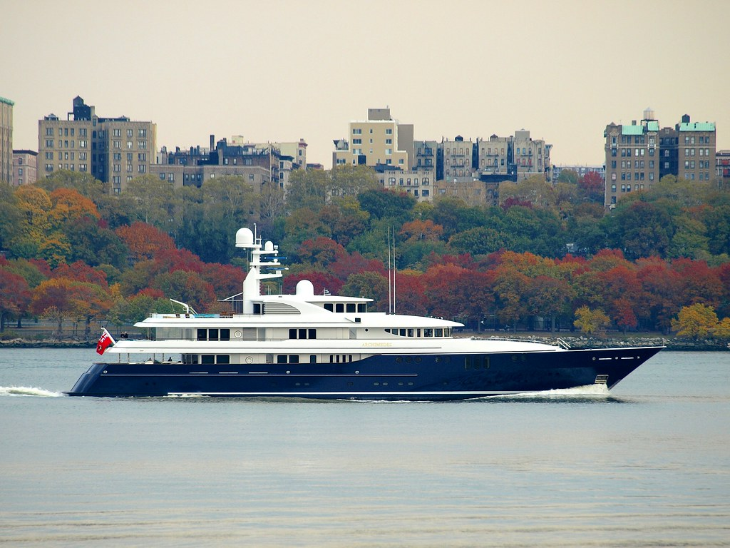 ARCHIMEDES Luxury Yacht On The Hudson River New York City