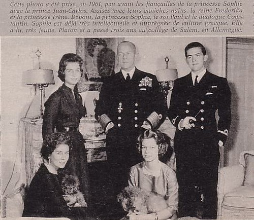 Greek Royal Family 1961 This Photo Of 1961 Shows King