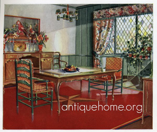 1930 Dining Room 1930s Dining Room Design With Red As