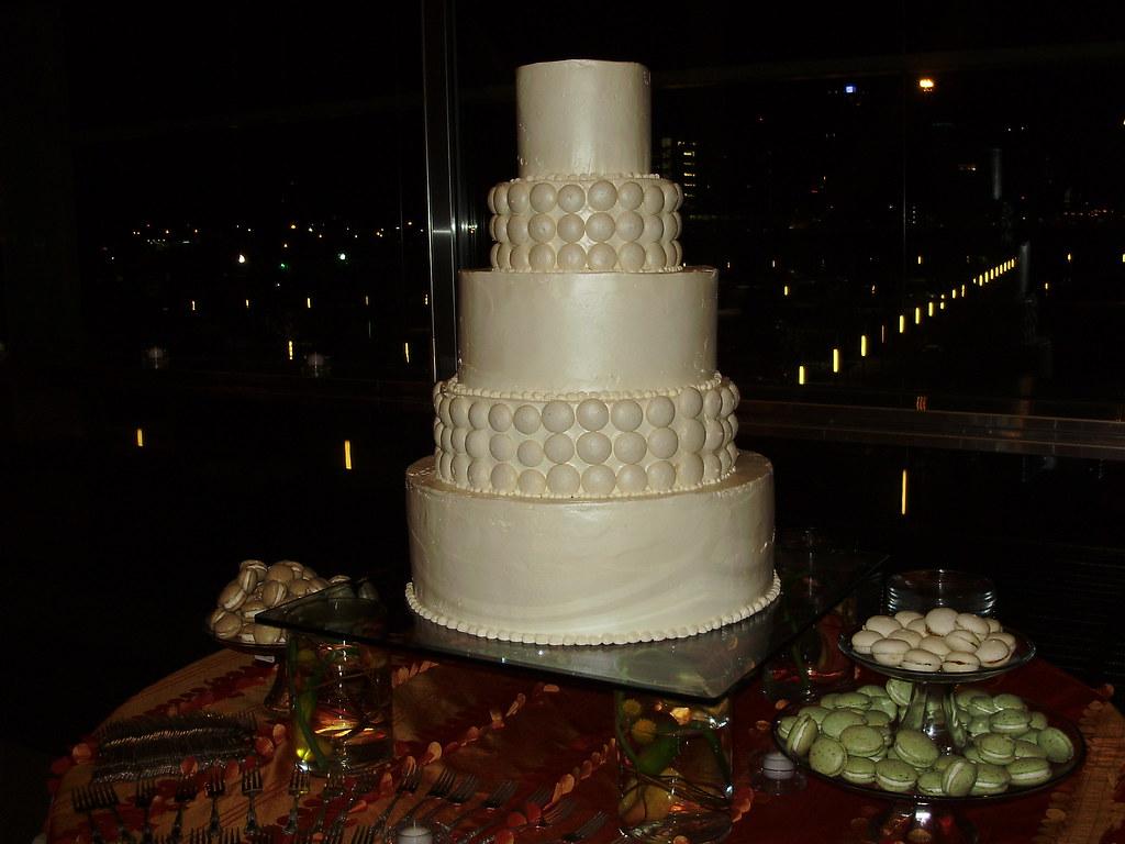 Macaroon Wedding Cake White Chocolate Swiss Buttercream