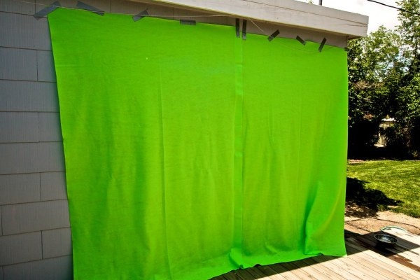 The Green Screen   I constructed this green screen for my ...