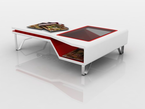 White And Red Coffee Table MIKI En Mi Opinin Es Una