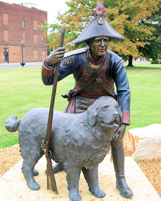 On the Trail of Discovery, Meriwether Lewis and his explorer dog, Seaman, Paducah, Kentucky, 9/5/08