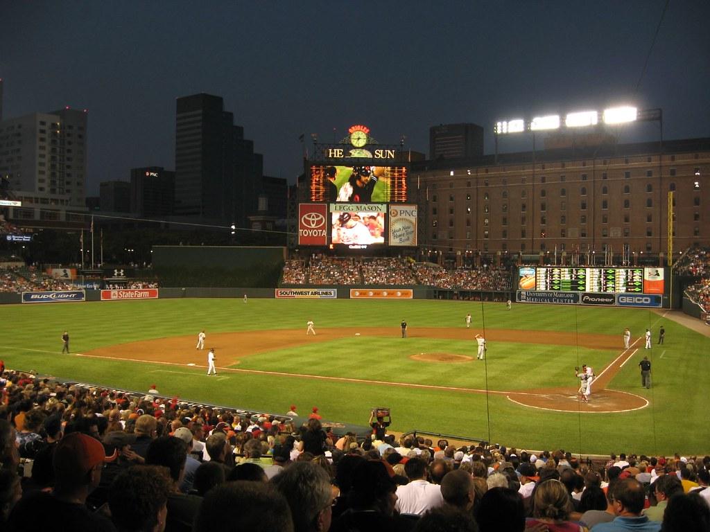 Beautiful Night Of Baseball At Oriole Park At Camden Yards