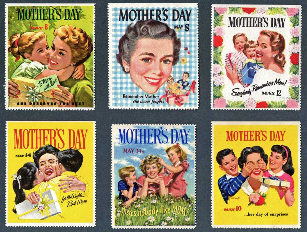 Mother's Day stamps - 1950s