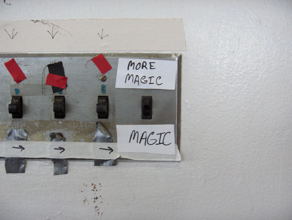 More Magic Labels On A Light Switch Panel Somewhere In