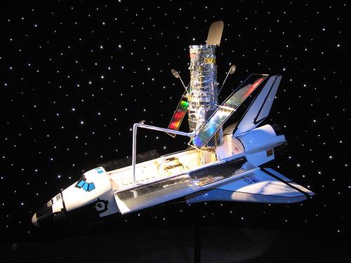 Space Shuttle Hubble Telescope Model Kennedy Space
