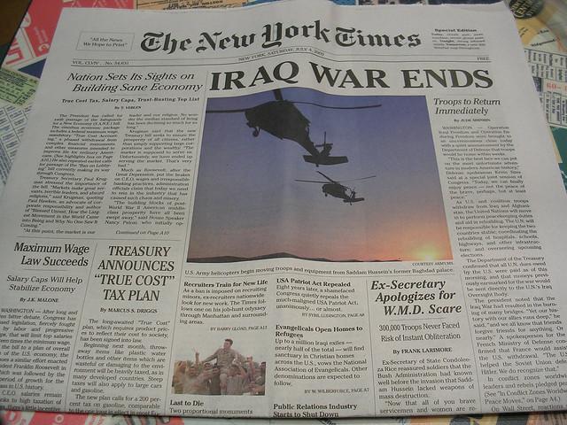 Fake New York Times newspaper Source flickrcomphotos