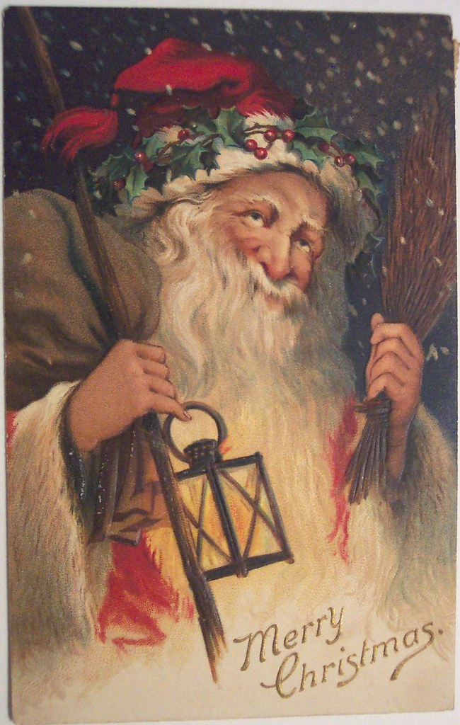 Vintage Christmas Postcard Santa Dave Flickr