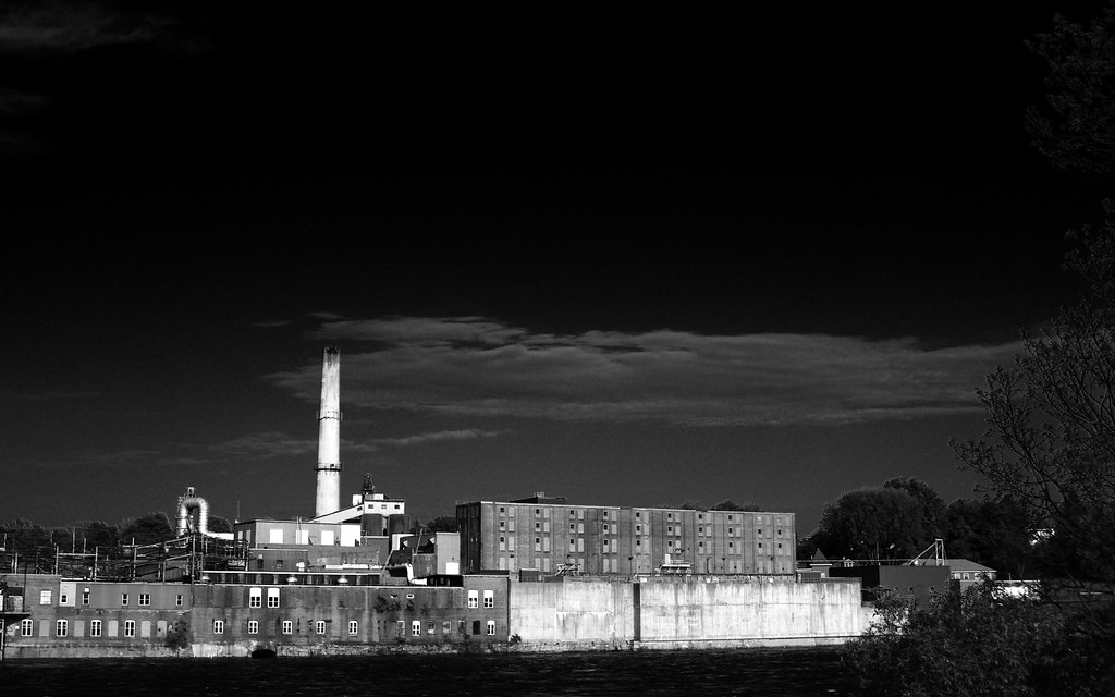 Scott Paper Mill Ive Been Playing With The Monochrome