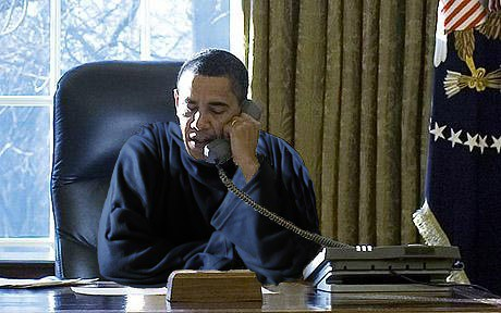 President In A Snuggie President Obama Conforms To His