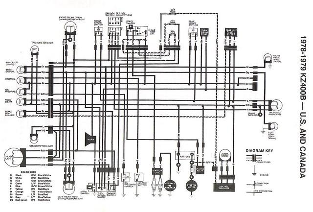 197879 KZ400 stock_wiring_diagram   Original Stock Wiring