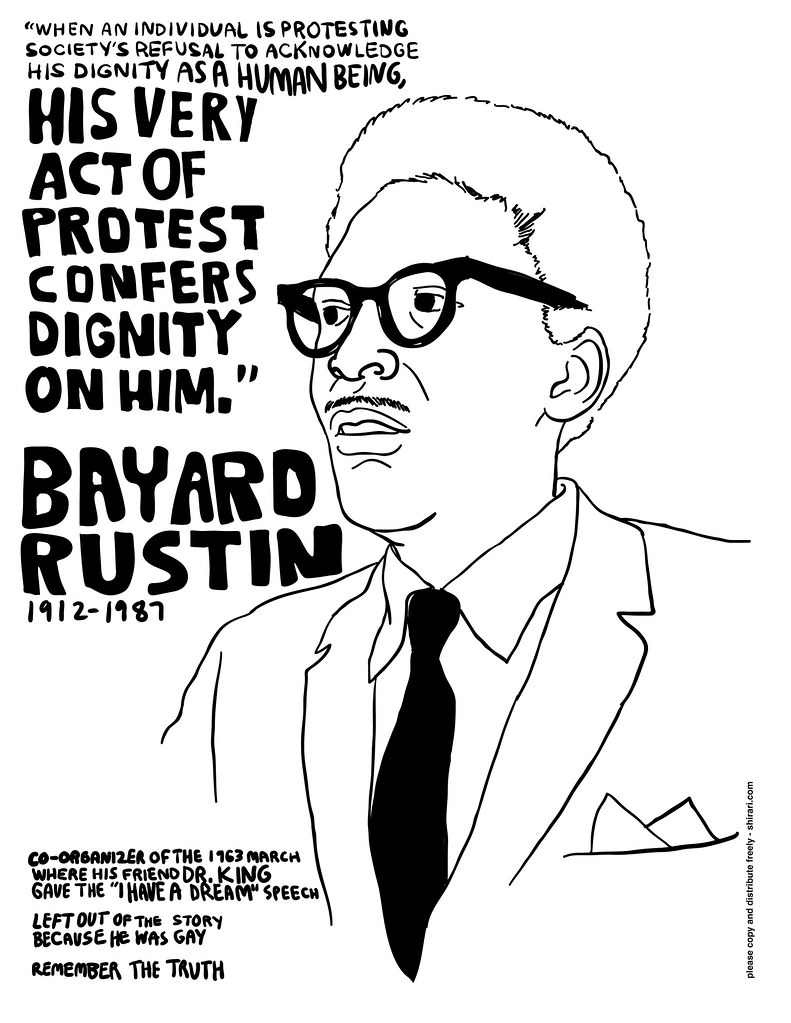 Bayard Rustin Black And White Version I Learned About
