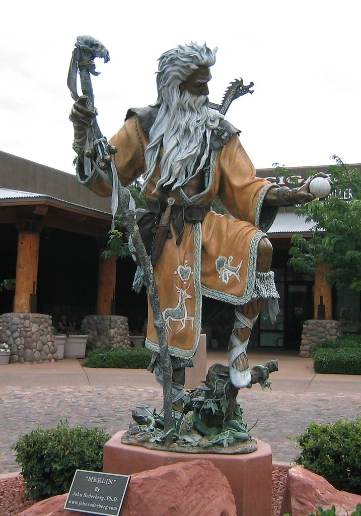 Statue Of Merlin Sedona Az This Beautiful Statue Of Merli Flickr