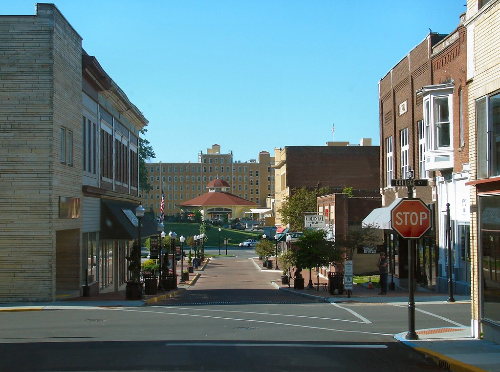 Corner Of Maple And College Downtown French Lick