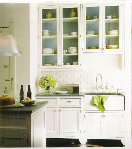 White Kitchen Blue Green Accents Flickr Sharing