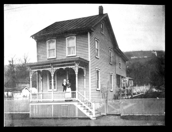 19th century house with porch and baby | Nice detailing on ...