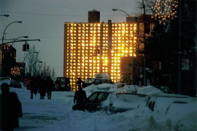 NYC 1996 Snowstorm Aftermath Brooklyn