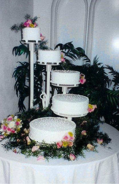 Five Tier Cascading Stand Wedding Cake Karla Cakes Flickr