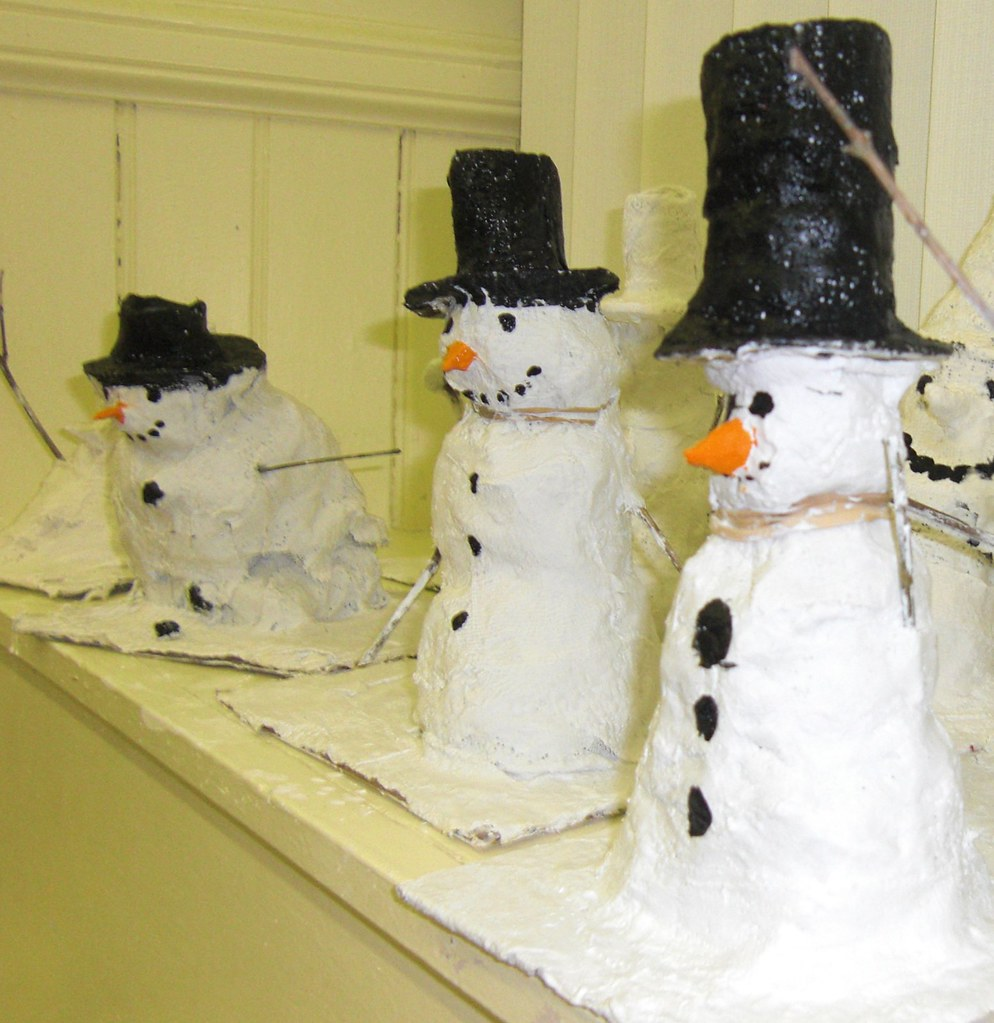 Plaster Snowmen This Was A Whole School Christmas