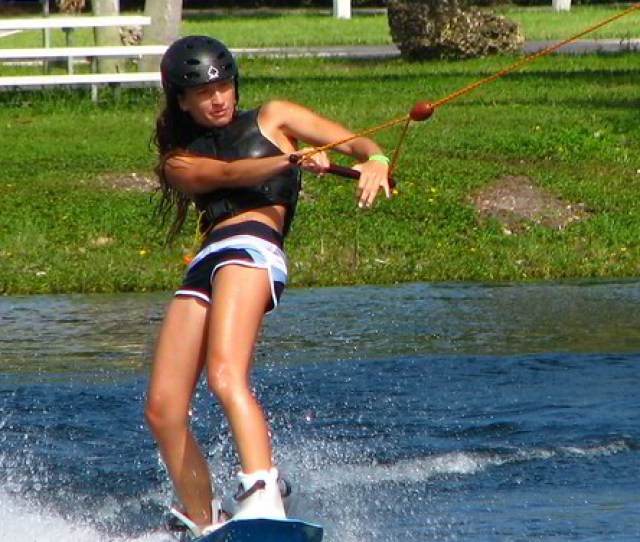 Female Wakeboarder Ski Rixen Usa Cable Park Quiet Waters Park Deerfield Beach