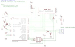 Wifi Radio User Interface Circuit Schematic | I added a