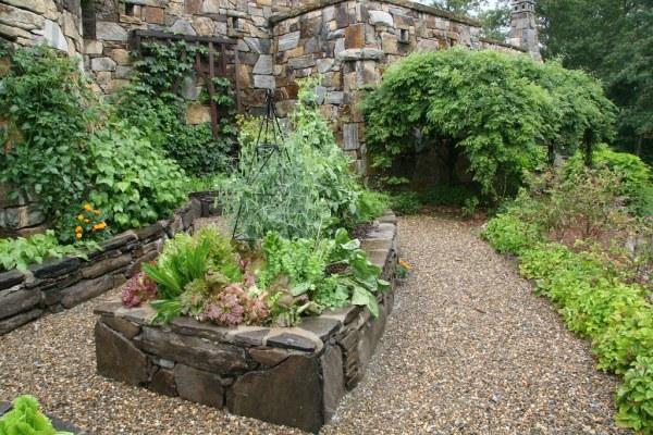 rock raised garden bed ideas Stone raised beds - vegetable garden   Lauren Jolly